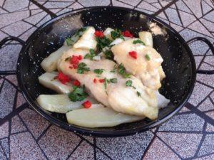 תבשיל ארטישוק ירושלמי ודג