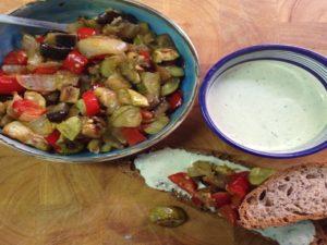 סלט ירקות אפוי